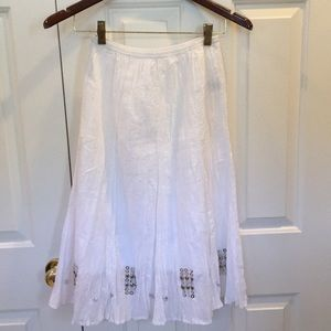 White skirt with silver beading